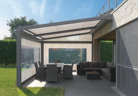 Zabudowy tarasów, zadaszenia, pergole aluminiowe - Alvitro